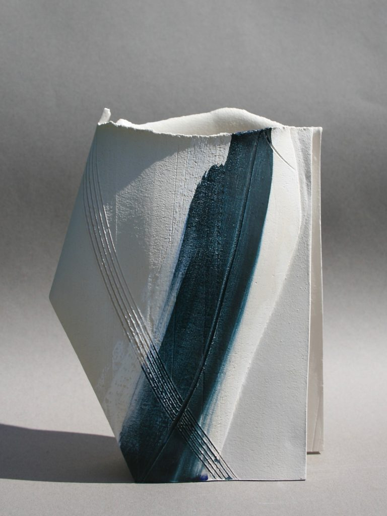 Emily Hughes. Medium vessel with blue