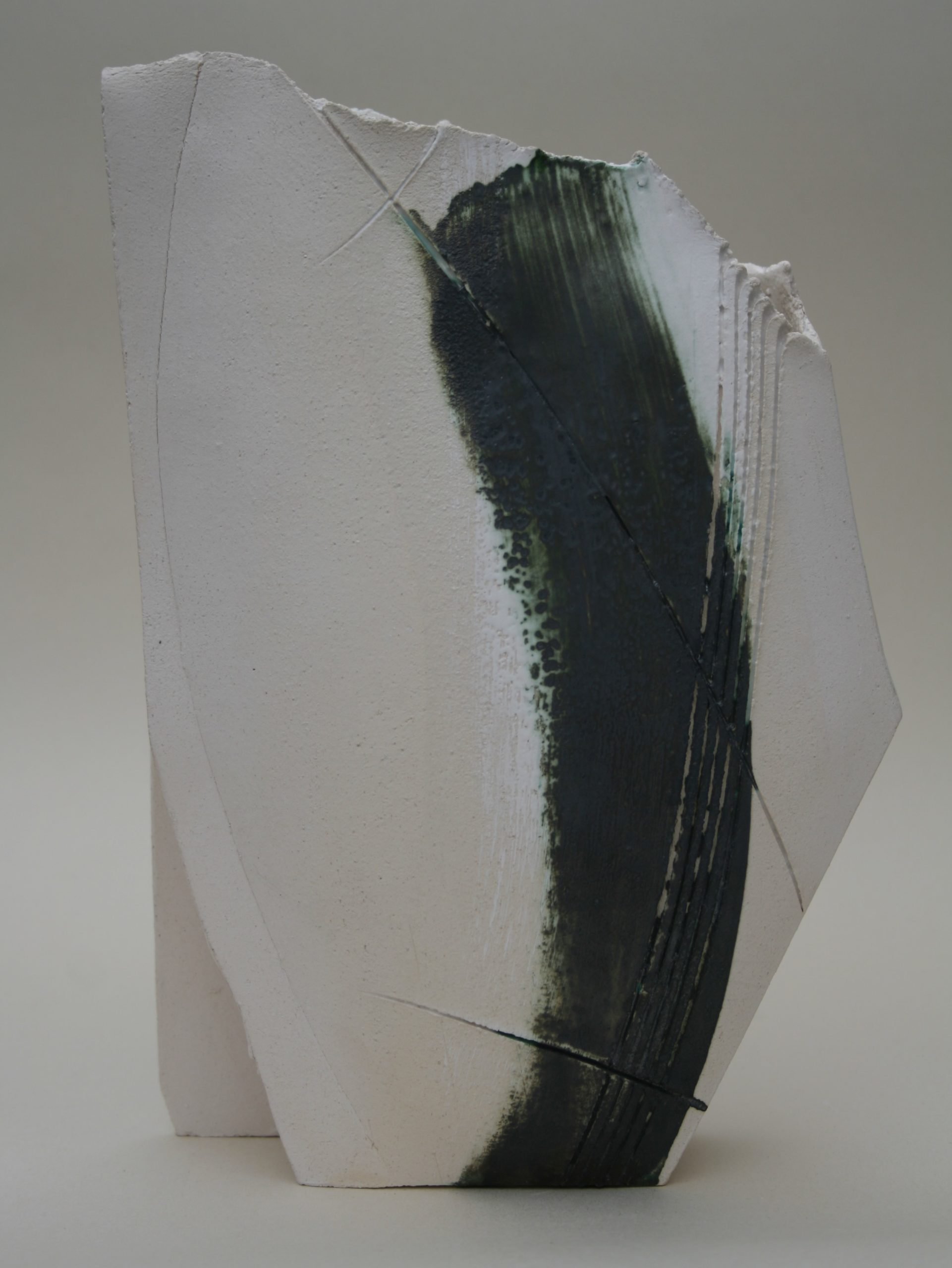 Emily Hughes.Medium Copper White Vessel
