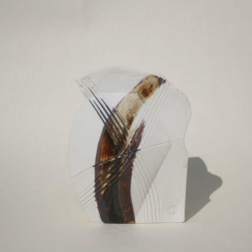 Emily Hughes. Mini porcelain Vessel (ochre)