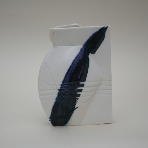Emily Hughes. Mini porcelain vessel (blue)