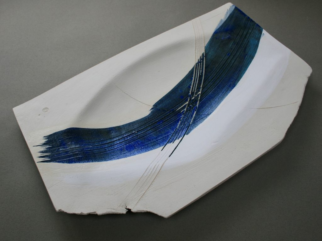 Emily Hughes. Platter with Blue