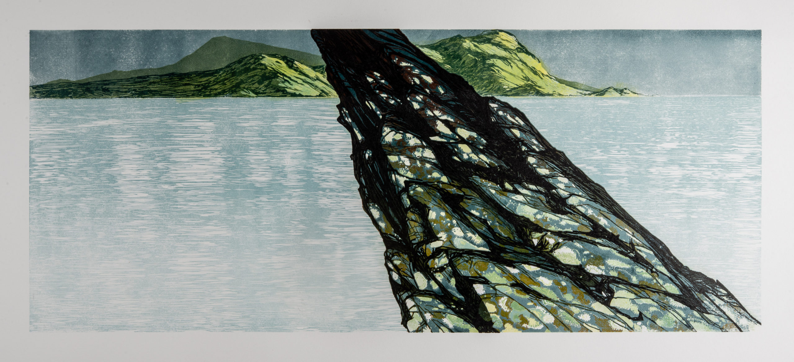 Laura Boswell. Outcrop (Linocut - 700 x 290 mm)