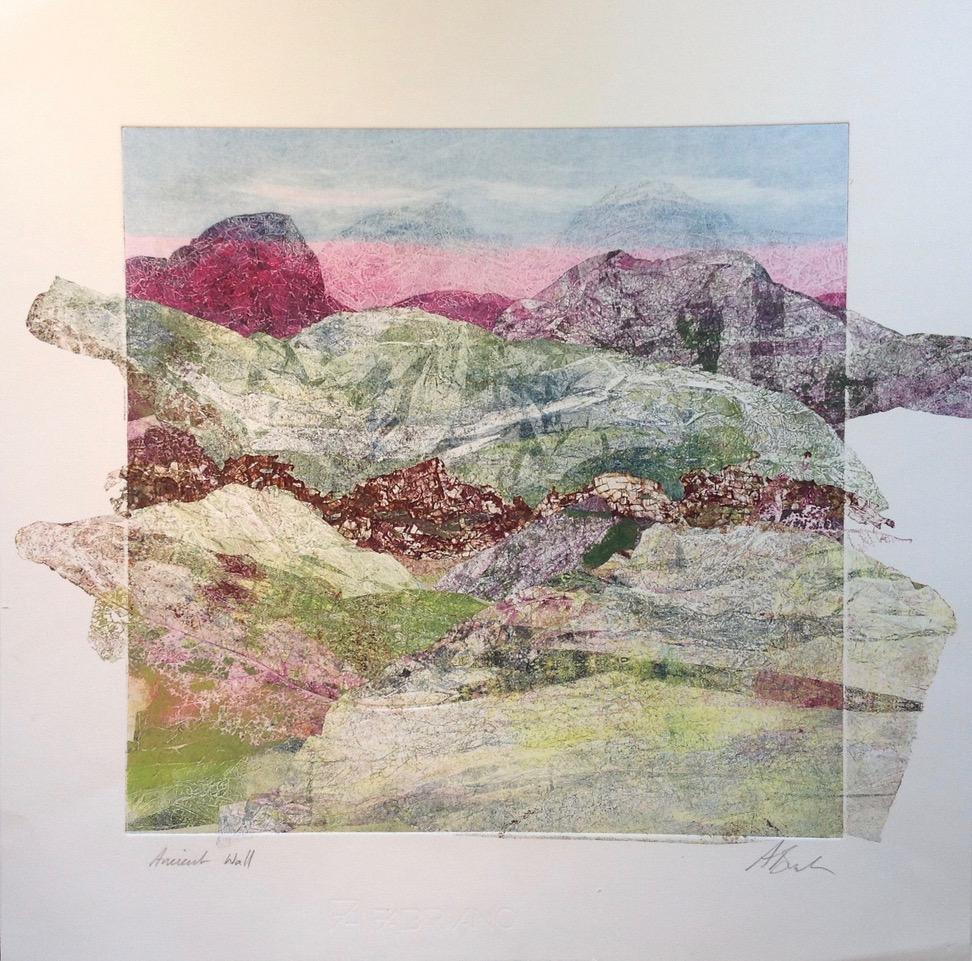 Adele Burdon. Ancient wall 50 x 50 cm
