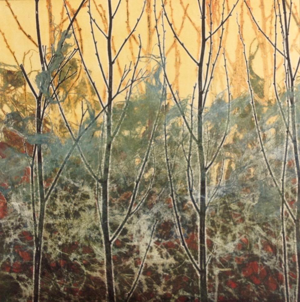 Adele Burdon. Fire 25 x 25 cm