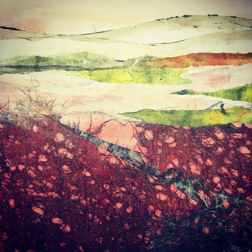 Adele Burdon. Red Earth 25 x 25 cm