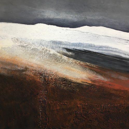 Glynnis Carter. 'Winter Moonlight' 91 x 91 cm
