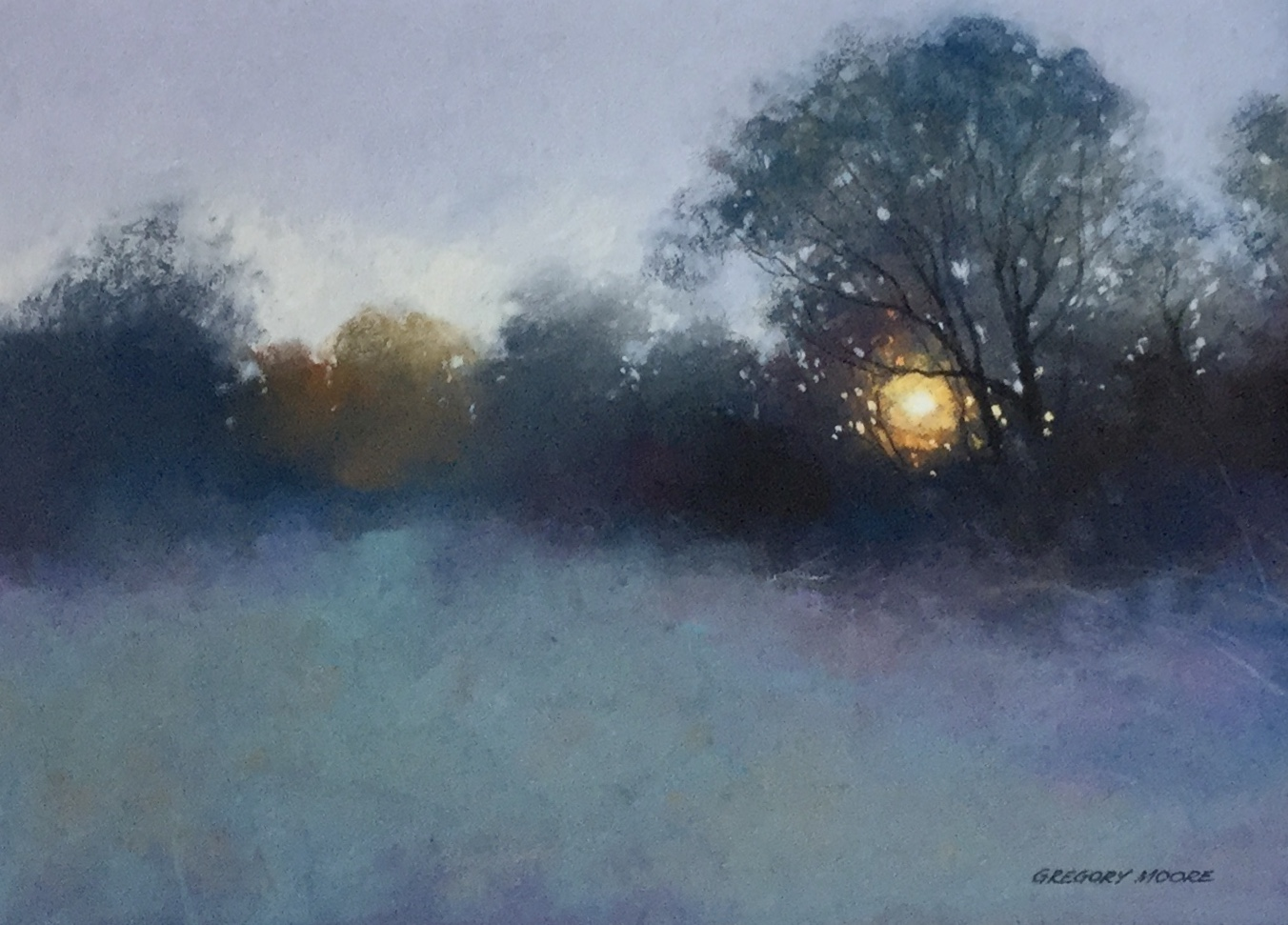 Gregory Moore. 'Winter Sun' pastel