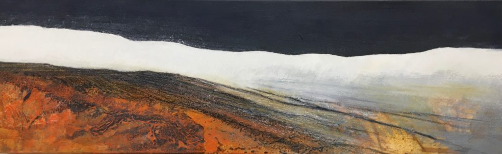 Glynnis Carter. 'Snow Shower' 101 x 31 cm