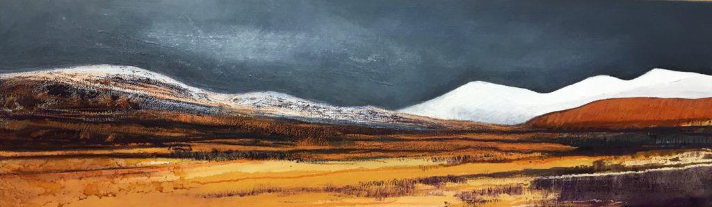 Glynnis Carter. 'Winter Hills' 101 x 31 cm