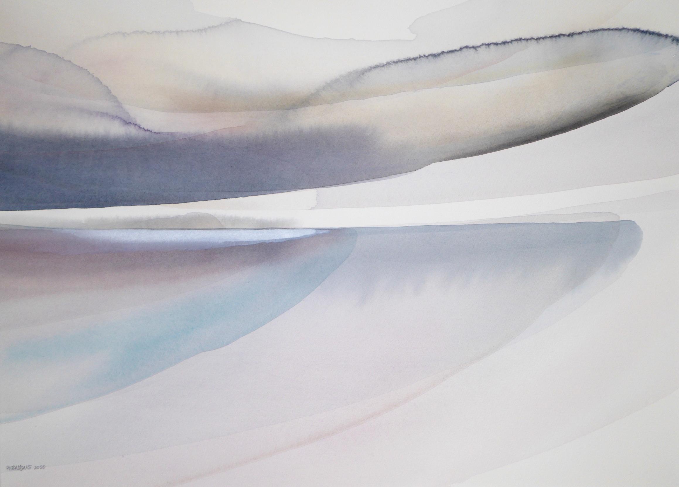 Peter Davis. Strange Light, May, Watercolour on paper 2020 (50x70cm)