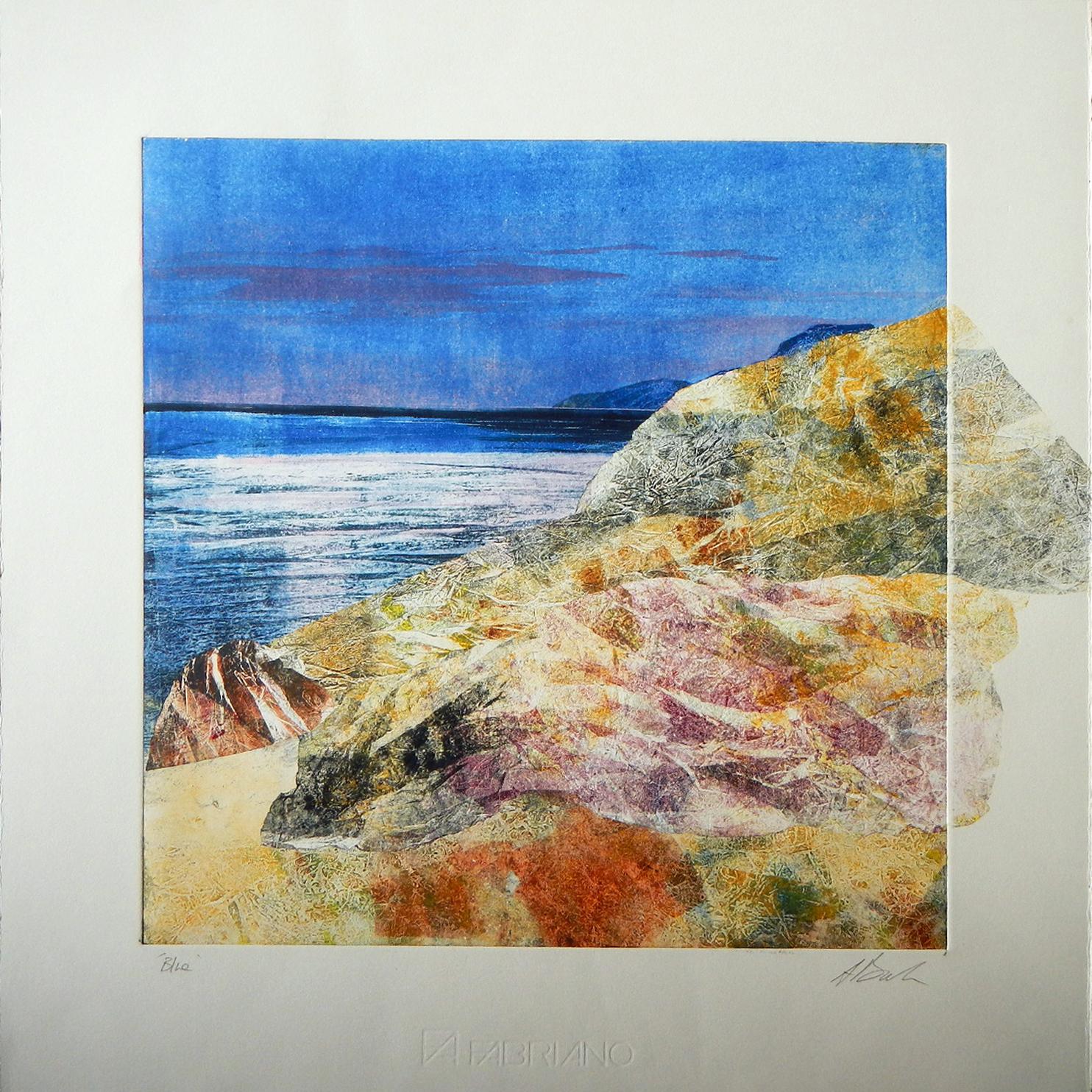 Adele Burdon. Blue (unique print)