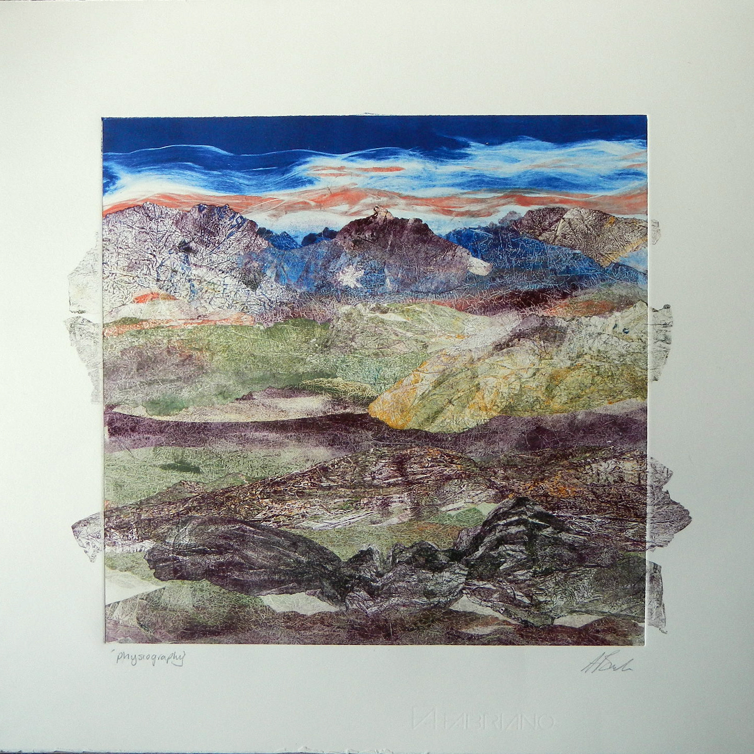 Adele Burdon. Physiography (unique print)