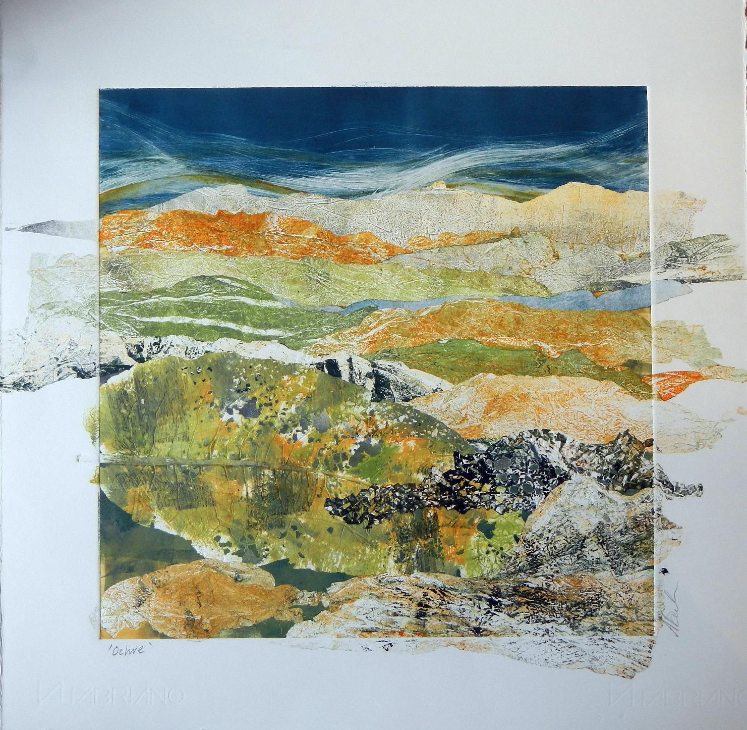 Adele Burdon. Ochre (unique print)