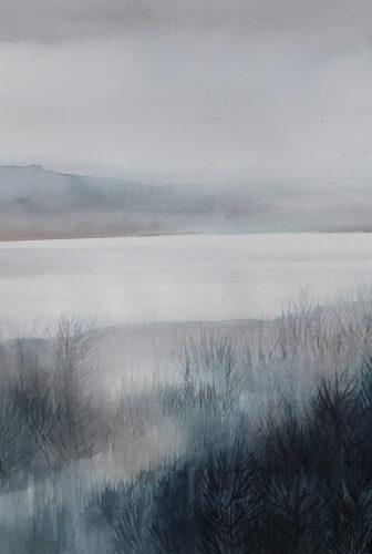 Anne Skinner. River- Distant Mist