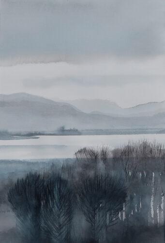 Anne Skinner. River- Through the Trees
