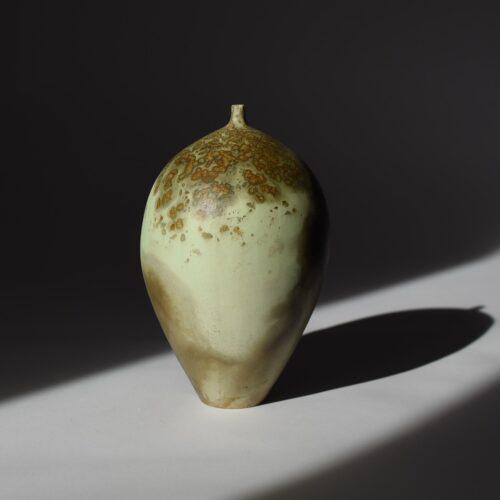 Janene Woudby. Mustard cold narrow necked vessel