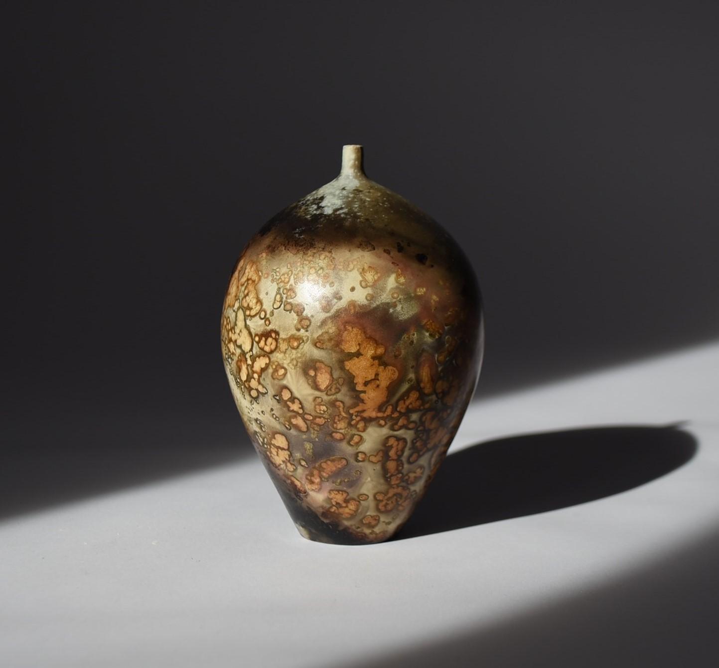 Janene Waudby. Miniature mustard gold vessel JW14