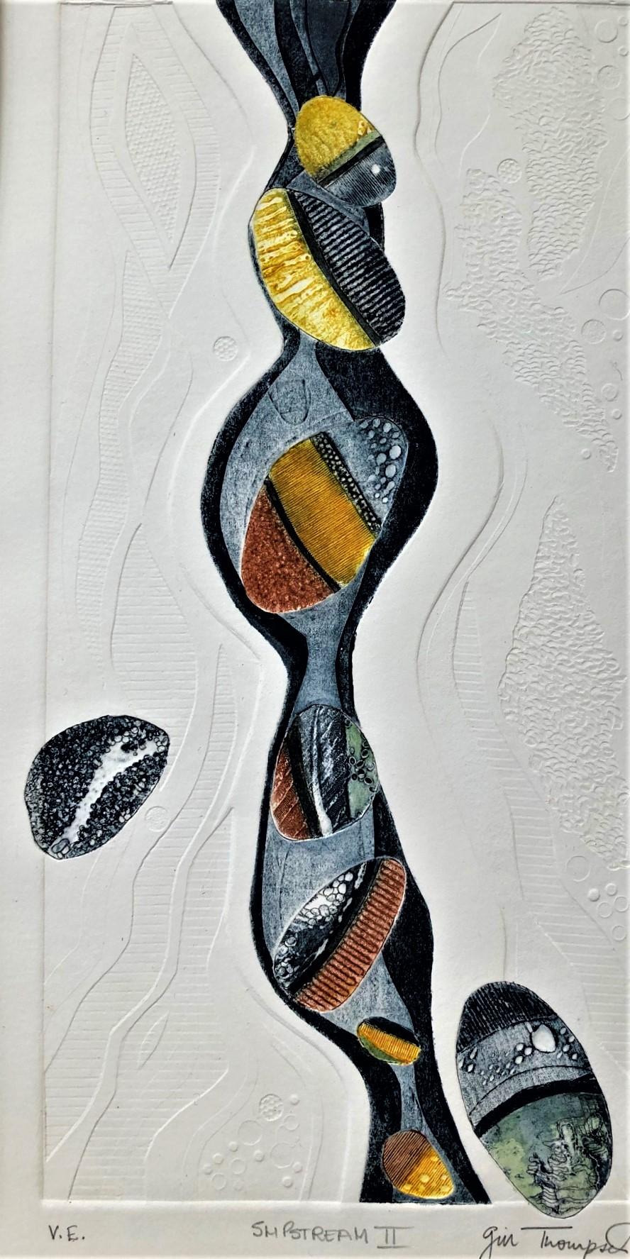 Gill Thompson. Slipstream 2 - collograph print