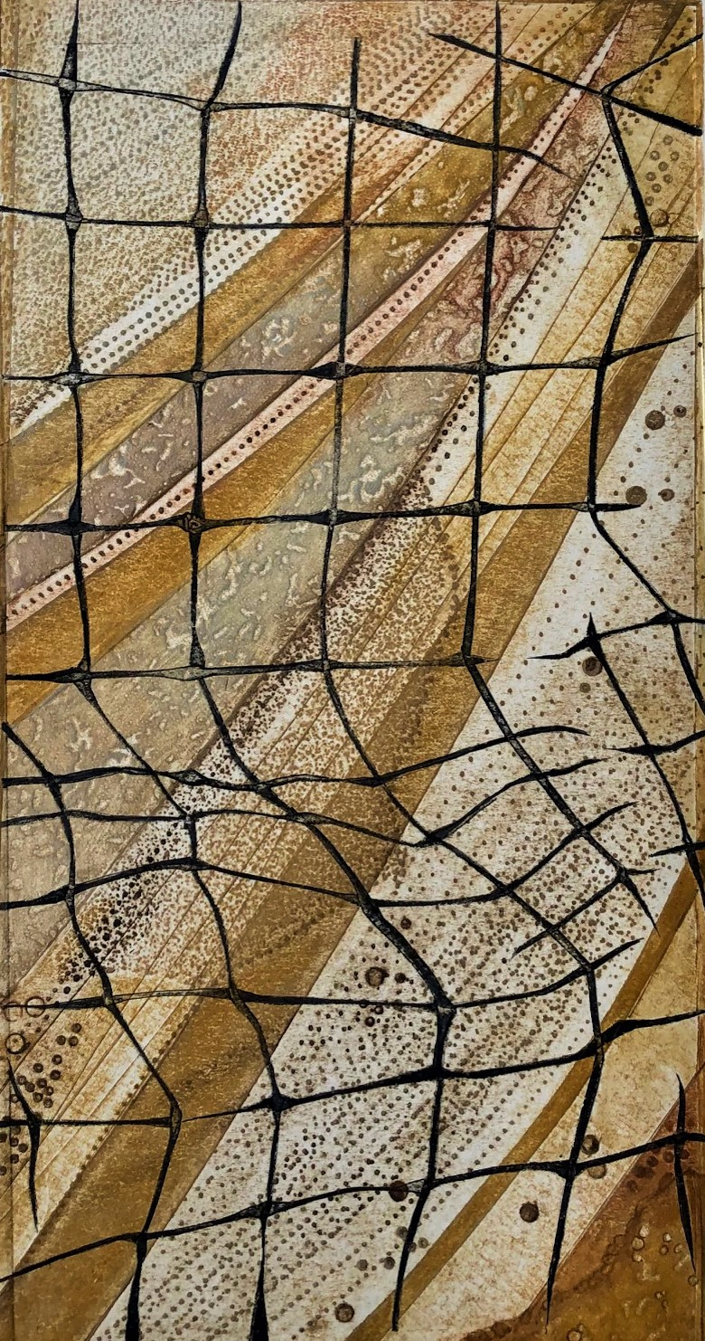 Gill Thompson. 'Stranded' - collagraph print