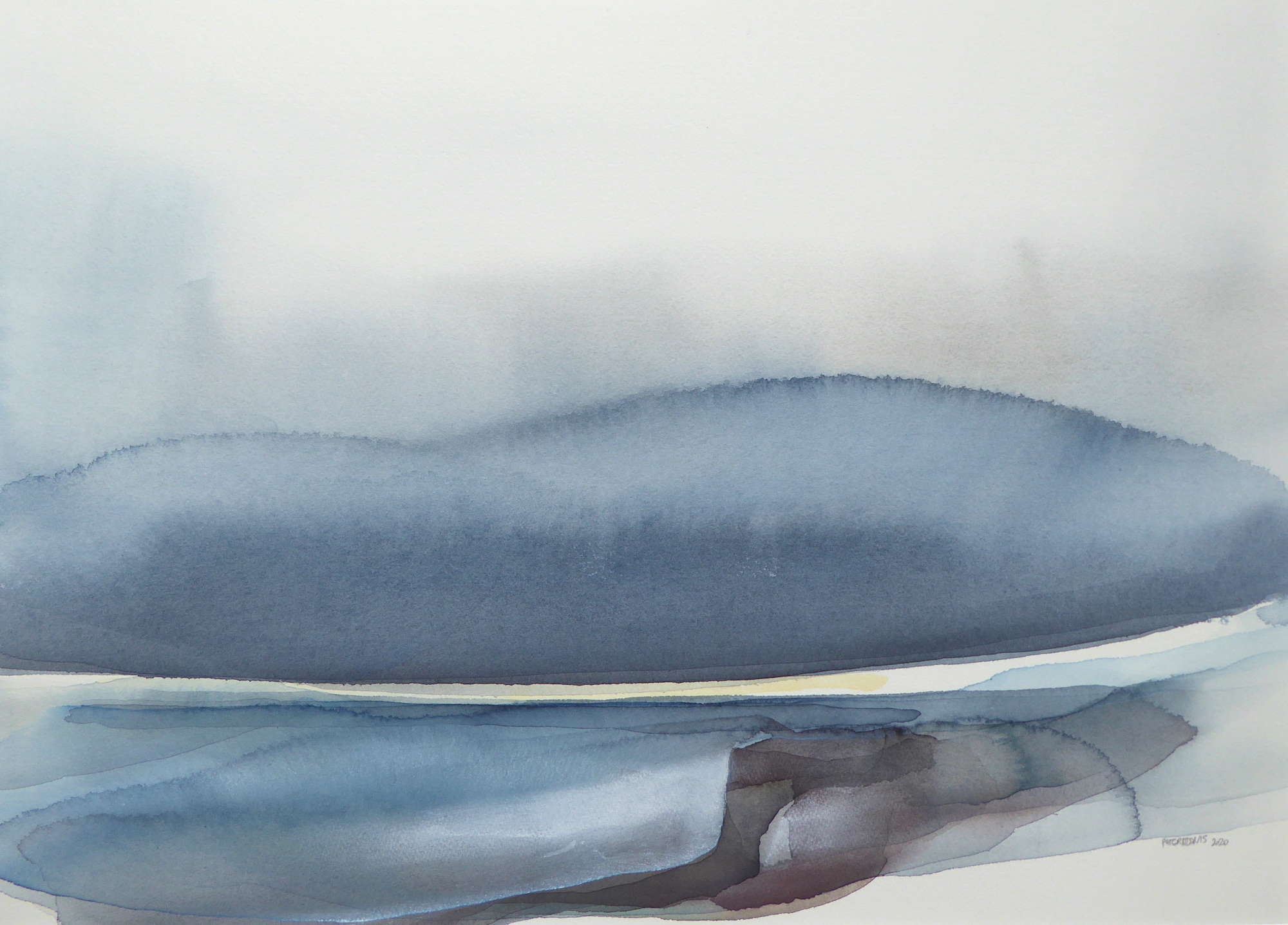 Peter Davis. Moozie, Watercolour and chalk on paper (50x70cm)