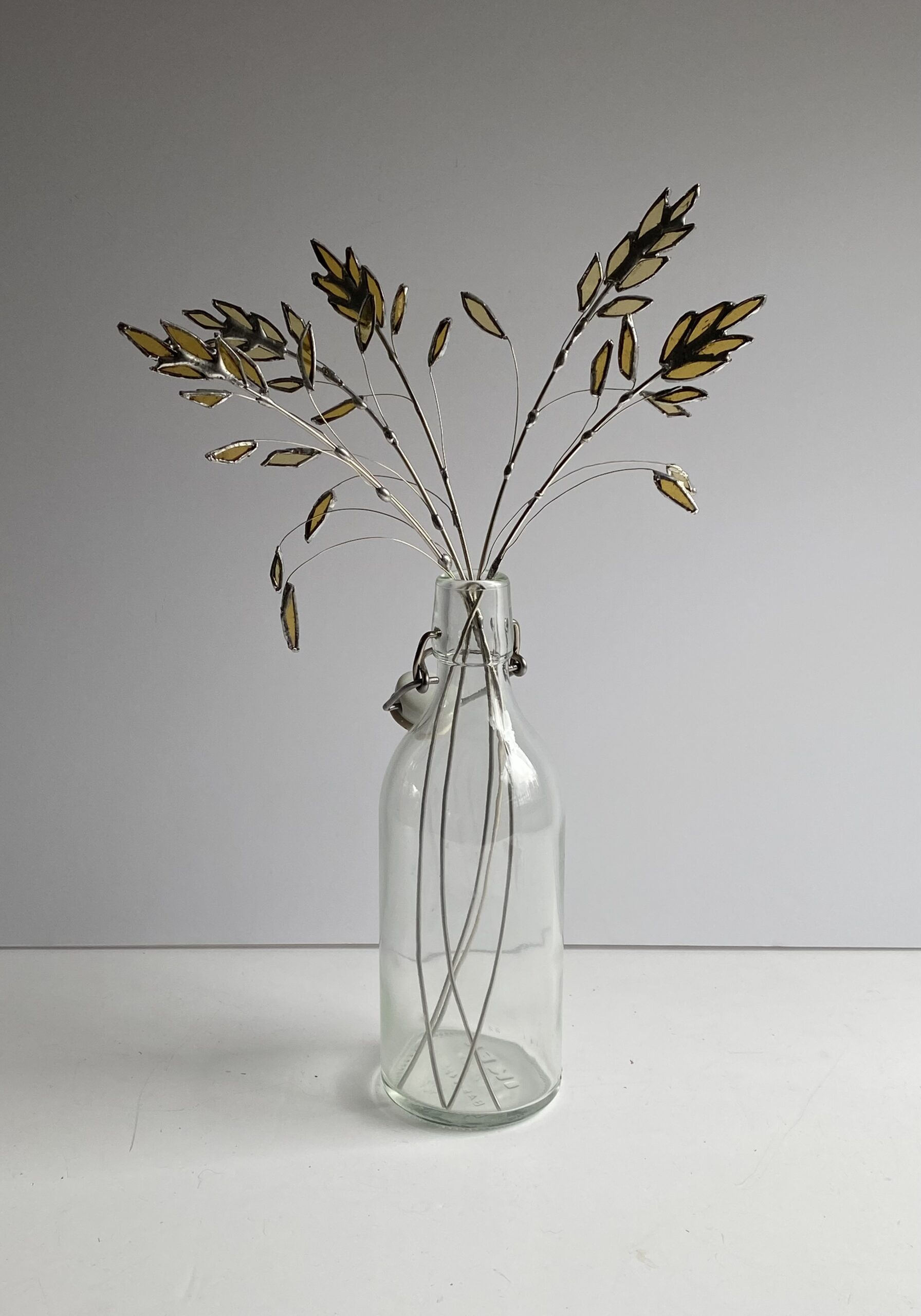 Samantha Yates. Stained glass Cocksfoot Grasses
