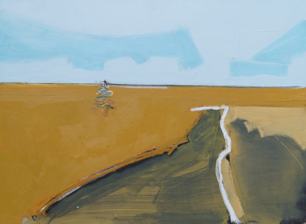 Sam Cartman. Locherben road, 79 x 58 cm, Oil