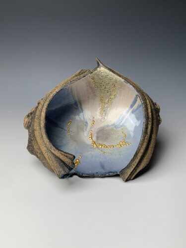 Hanna Salomonsson. Large blue/lilac bowl L-BG-01