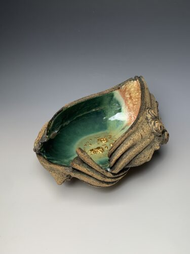 Hanna Salomonsson. Large deep green bowl L-O-01