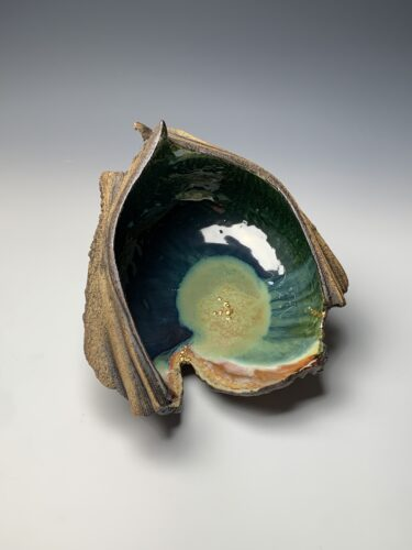 Hanna Salomonsson. Large deep green bowl L-O-02
