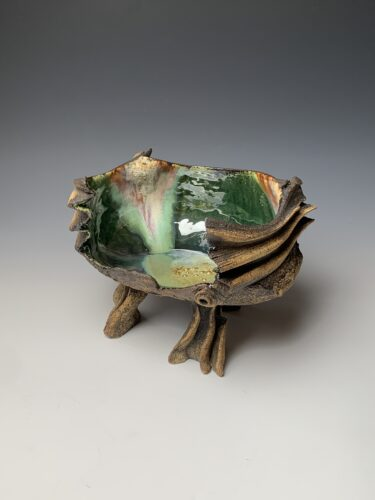 Hanna Salomonsson. Large deep green bowl LL-O-02