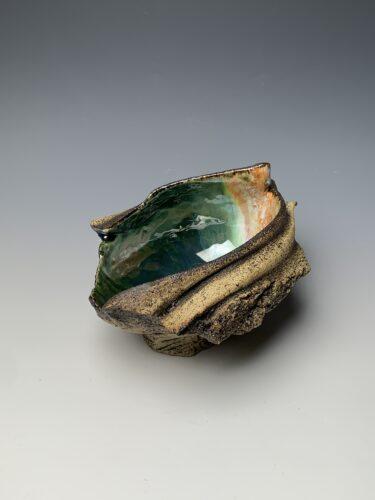 Hanna Salomonsson. Medium deep green bowl M-O-01