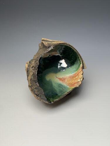 Hanna Salomonsson. Medium deep green bowl M-O-02